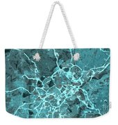 Madrid Abstract Map, Blue Traffic Map, Europe Weekender Tote Bag