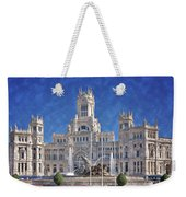 Madrid City Hall Weekender Tote Bag by Joan Carroll