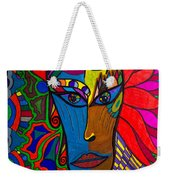 Magdalena On Fire - Mask - Abstract Face Weekender Tote Bag