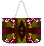 Magent Crystal Flower Weekender Tote Bag