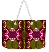 Magenta Crystal Pattern Weekender Tote Bag by Amy Vangsgard