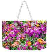 Magenta Floral Pattern Weekender Tote Bag