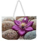 Clematis Flower On Meditation Stones Weekender Tote Bag