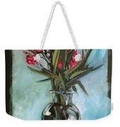 Magenta Oleander Weekender Tote Bag