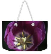 Magenta Tulip Center Squared Weekender Tote Bag