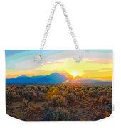 Magic Over Taos Weekender Tote Bag