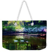 Magical Beauty At The Azalea Pond Weekender Tote Bag