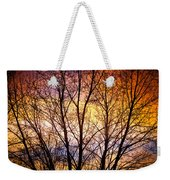 Magical Colorful Sunset Tree Silhouette Weekender Tote Bag
