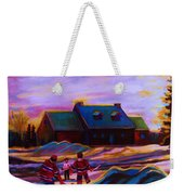 Magical Day For Hockey Weekender Tote Bag