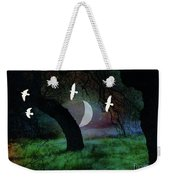 Magical Forest Night Weekender Tote Bag