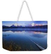 Magical Sunrise Along Sawtooth Mountain Range Stanley Idaho Weekender Tote Bag