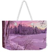 Magical Sunset After Snow Storm 1 Weekender Tote Bag