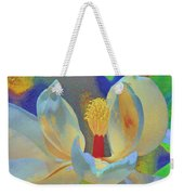 Magnolia Abstract Weekender Tote Bag