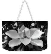 Magnolia Bloom B/w Weekender Tote Bag