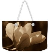 Magnolia Blossom Bw Weekender Tote Bag