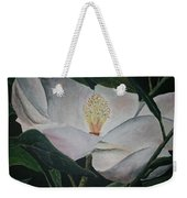 Magnolia Flower Oil Painting Weekender Tote Bag
