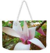 Magnolia Flowering Tree Art Prints White Pink Magnolia Flower Baslee Troutman Weekender Tote Bag