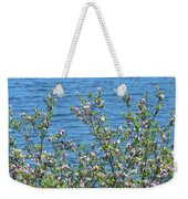 Magnolia Flowering Tree Blue Water Weekender Tote Bag