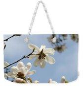 Magnolia Flowers White Magnolia Tree Art 2 Blue Sky Giclee Prints Baslee Troutman Weekender Tote Bag