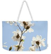 Magnolia Flowers White Magnolia Tree Flowers Art Spring Baslee Troutman Weekender Tote Bag