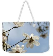 Magnolia Flowers White Magnolia Tree Spring Flowers Artwork Blue Sky Weekender Tote Bag