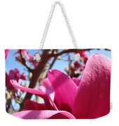 Magnolia Tree Pink Magnoli Flowers Artwork Spring Weekender Tote Bag