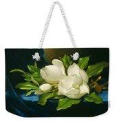 Magnolias On A Blue Velvet Cloth Weekender Tote Bag