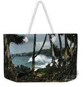 Mahama Lauhala Keanae Peninsula Maui Hawaii Weekender Tote Bag