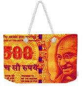 Mahatma Gandhi 500 Rupees Banknote Weekender Tote Bag