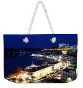 Mahon Harbour At Night Weekender Tote Bag