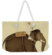 Mahout Riding An Elephant Painting - 18th Century Weekender Tote Bag