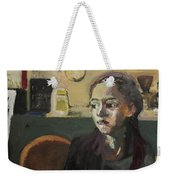 Maiden In Cafe Weekender Tote Bag