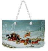Mail Coach In The Snow Weekender Tote Bag