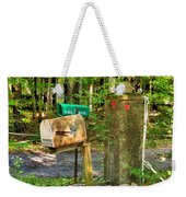Mailbox On The Rural Country Road Weekender Tote Bag