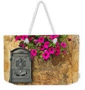 Mailbox With Petunias Weekender Tote Bag