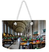 Main Reading Room Of Boston Public Library Weekender Tote Bag