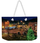 Main Street Christmas Weekender Tote Bag