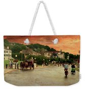 Main Street Mackinac Island Michigan Panorama Textured Weekender Tote Bag