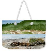 Maine Beach Wood Weekender Tote Bag