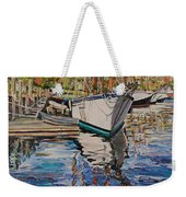 Maine Coast Boat Reflections Weekender Tote Bag