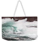 Maine Coast Storm Waves 2 Of 3 Weekender Tote Bag