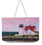 Maine Hendricks Head Lighthouse In Southport At Sunset Weekender Tote Bag