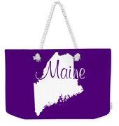 Maine In White Weekender Tote Bag