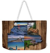 Maine Lighthouses Collage Weekender Tote Bag