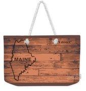 Maine Map Brand Weekender Tote Bag