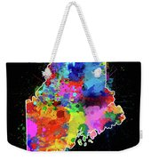 Maine Map Color Splatter 2 Weekender Tote Bag