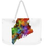 Maine Map Watercolor Weekender Tote Bag