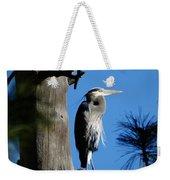 Majestic Great Blue Heron Weekender Tote Bag