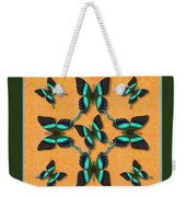 Majestic Green Swallowtail Wheel Weekender Tote Bag