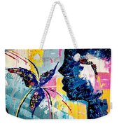 Make A Wish Abstract Art Figure Painting  Weekender Tote Bag